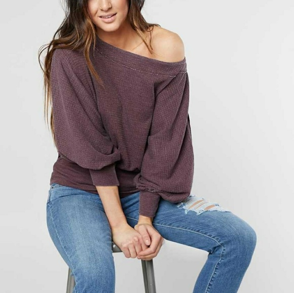 c17df68f6bcaa NWT Free People Willow Off The Shoulder Thermal To